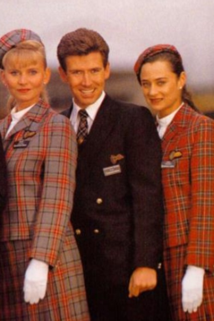 Uniforms stewardess: Caledonian Airways. United Kingdom. 5