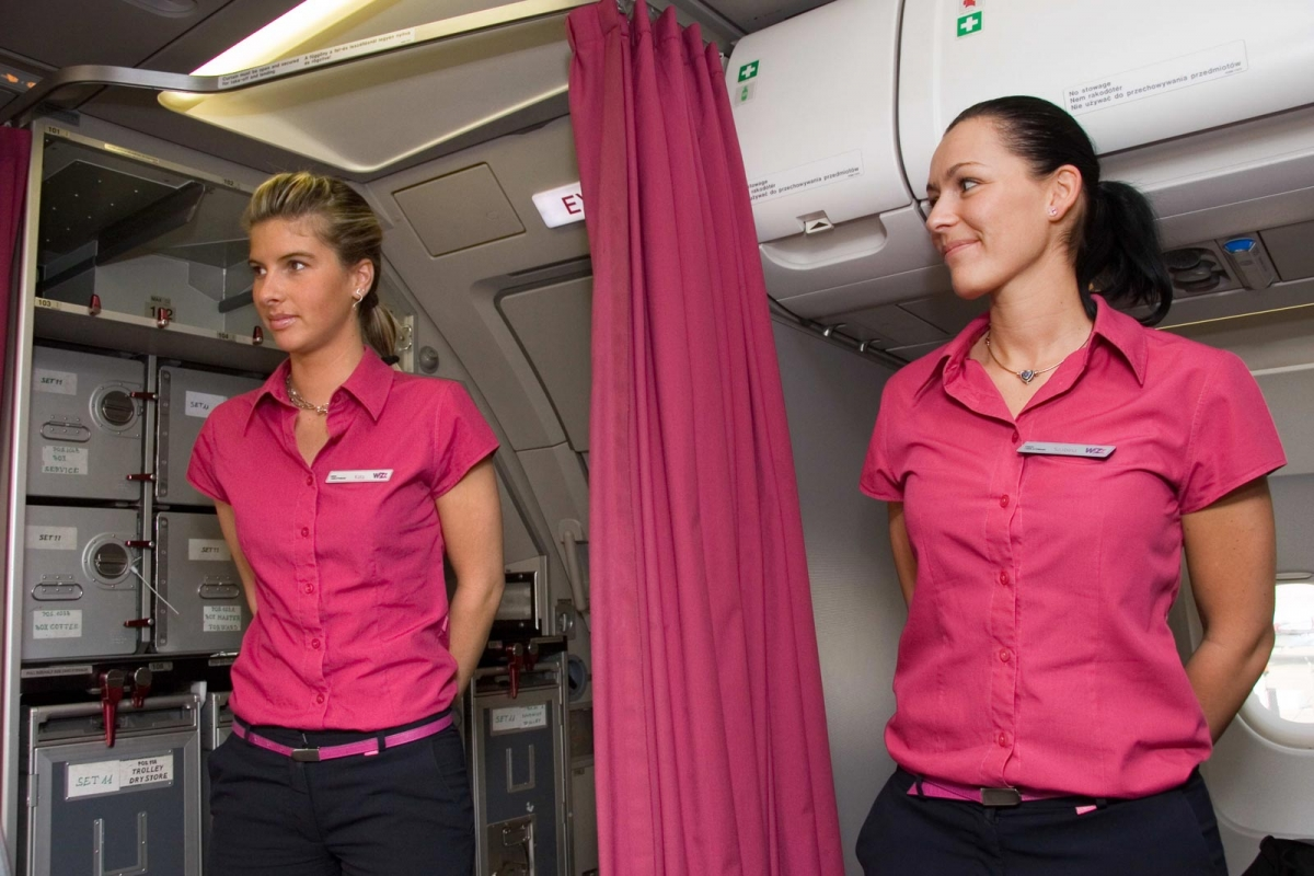 Uniforms stewardess: Wizz Air. Hungary. 5