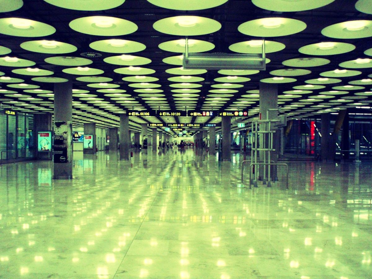 El aeropuerto internacional de Madrid - Barajas Salón