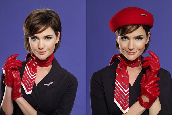 Uniforms stewardess: Air Berlin. Germany.