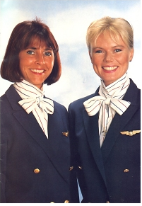 Description: Form airline stewardesses Scanair. Denmark, Sweden, Norvegiya.2