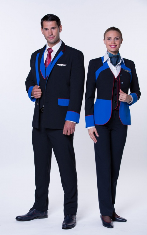 Description: Form of Travel Service Airlines flight attendants. Prague, Chehiya.2