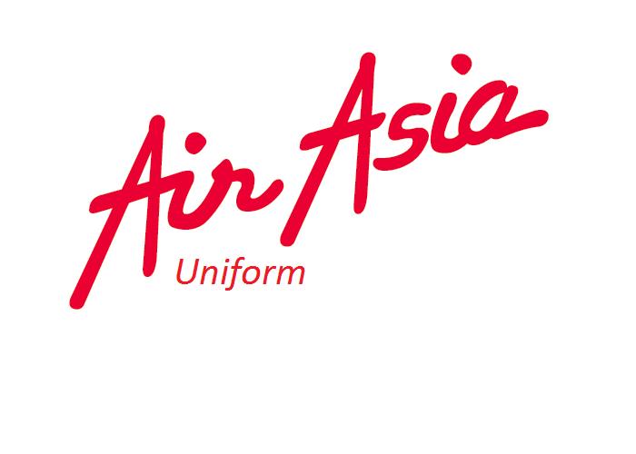 Uniformes aeromoça: AirAsia. Malásia.