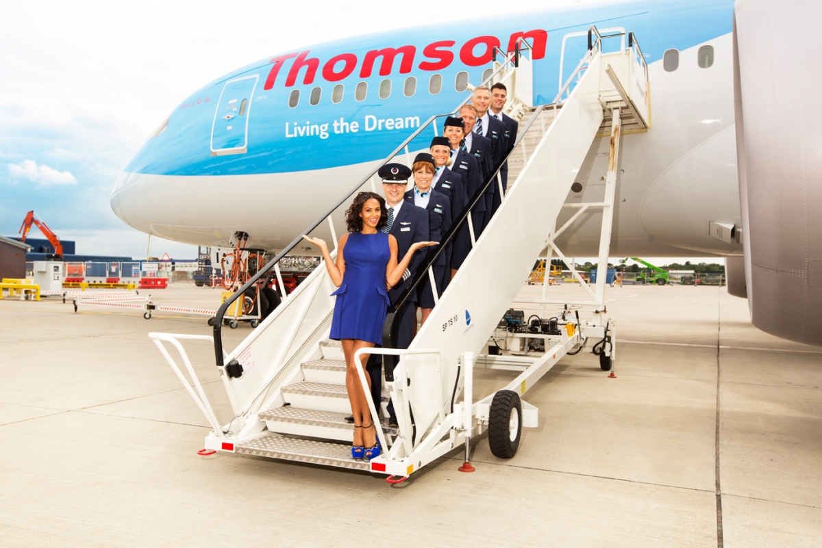 Airline Thomson Airways. team