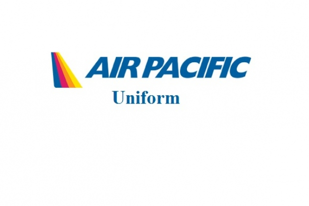 Uniforms stewardess: Air Pacific. Fiji.