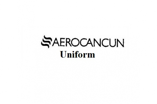 Uniforms stewardess: AeroCancun. Mexico City.