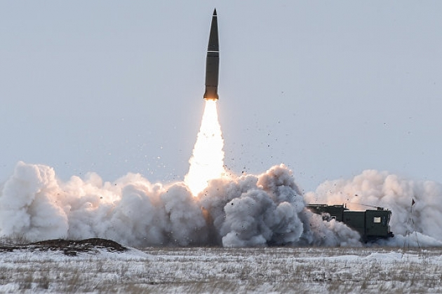 Lanzamiento del cohete Iskander