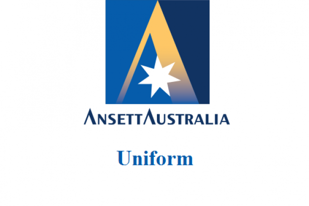 Uniformi hostess: Ansett Australia. Australia.