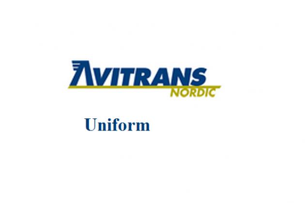 Uniformes de la azafata: Avitrans. Suecia.