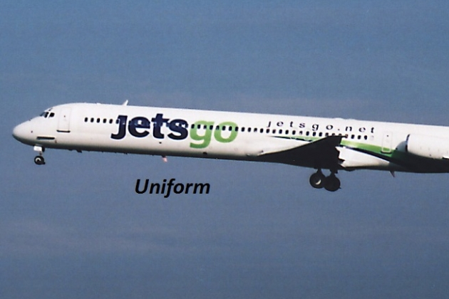 Uniformen Stewardess: Jetsgo. Kanada.