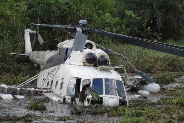 L'elicottero cadde in Liberia