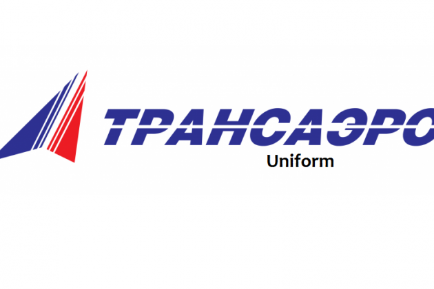 Uniforms stewardess: Transaero Airlines. Russia.