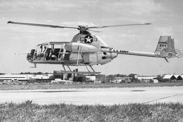 ヘリコプターマクドネルXV-1。 仕様。 写真。