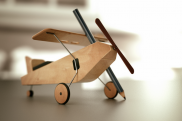 The aircraft made of wood. Photo.
