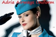 Uniformes de la azafata: Adria Airways. Eslovenia.