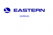 Uniforms of flight attendants: Eastern Air Lines. USA.