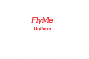 Uniforms of flight attendants: FlyMe. Sweden.