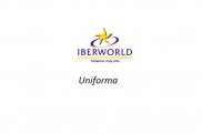 Uniforms of flight attendants: Iberworld Airlines. Spain.