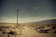 UFO over the desert