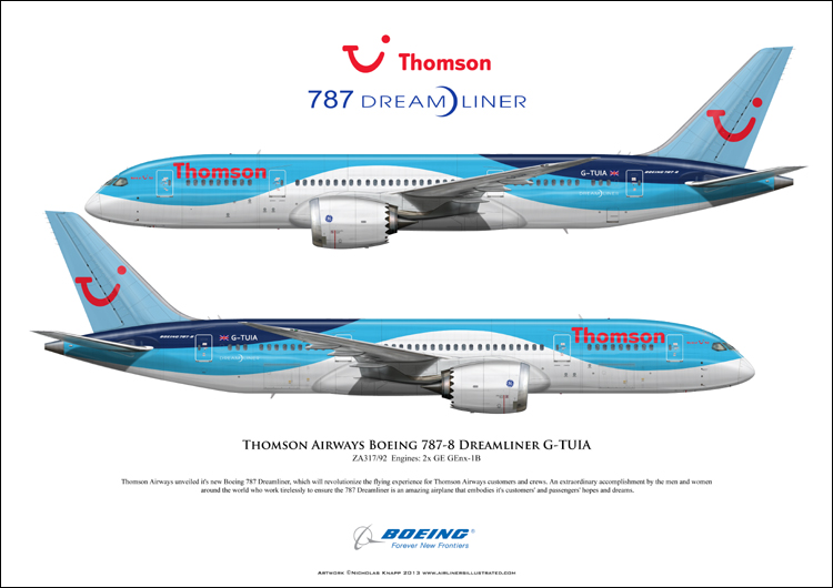 Thomson Airways compagnie aérienne. dreamliner