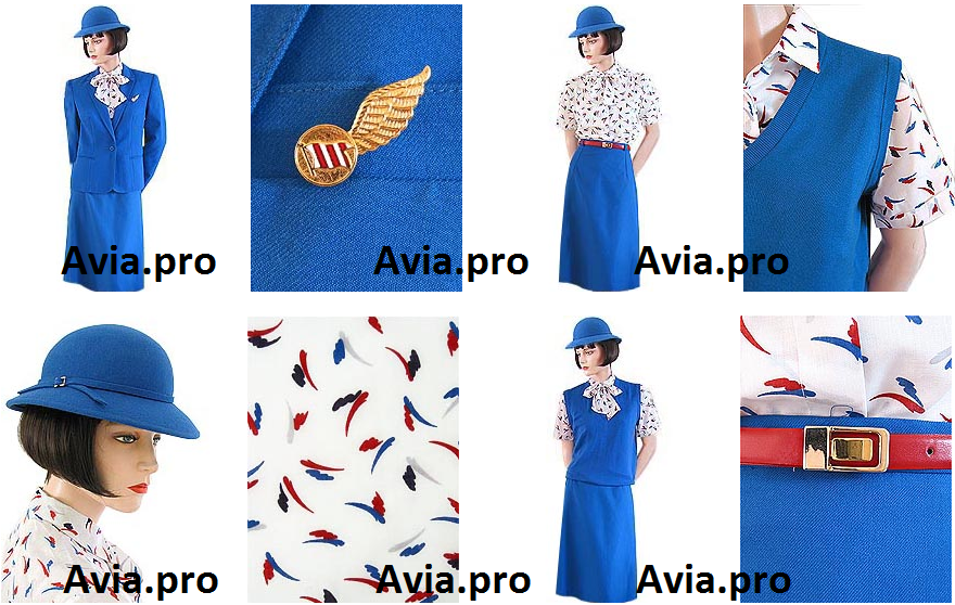 Uniforms stewardess: Dan-Air. United Kingdom. 2