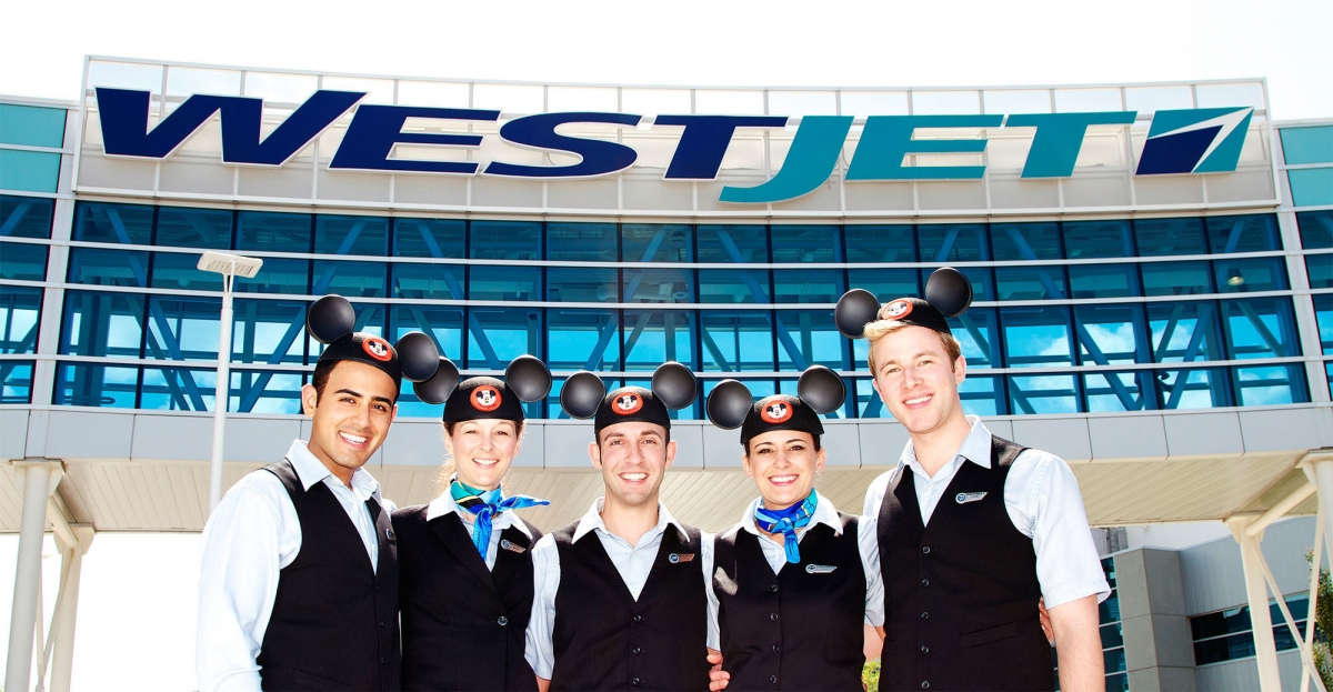 Uniforms stewardess: WestJet. Canada.