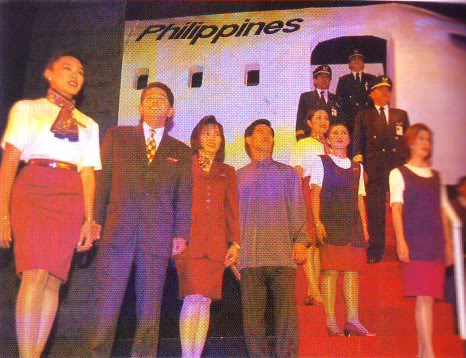 Uniformes des agents de bord: Philippine Airlines. Philippines. 3