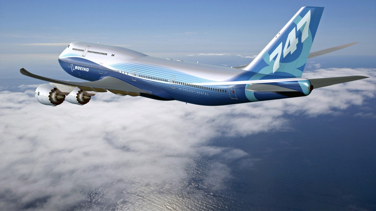 Boeing over the sea