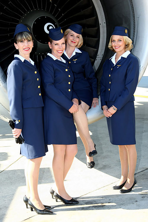 Uniforms stewardess: Finnair. Finland.