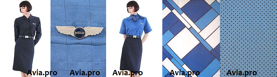 Uniforms stewardess: jetBlue Airways. USA.