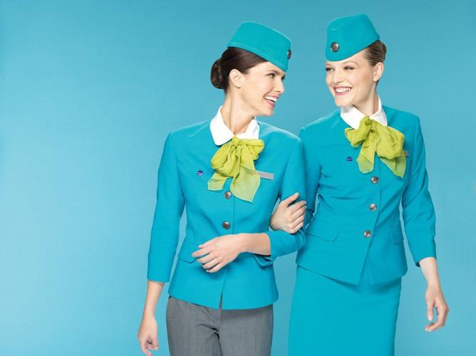 S7 Airlines. Russie. nouveaux uniformes bleus