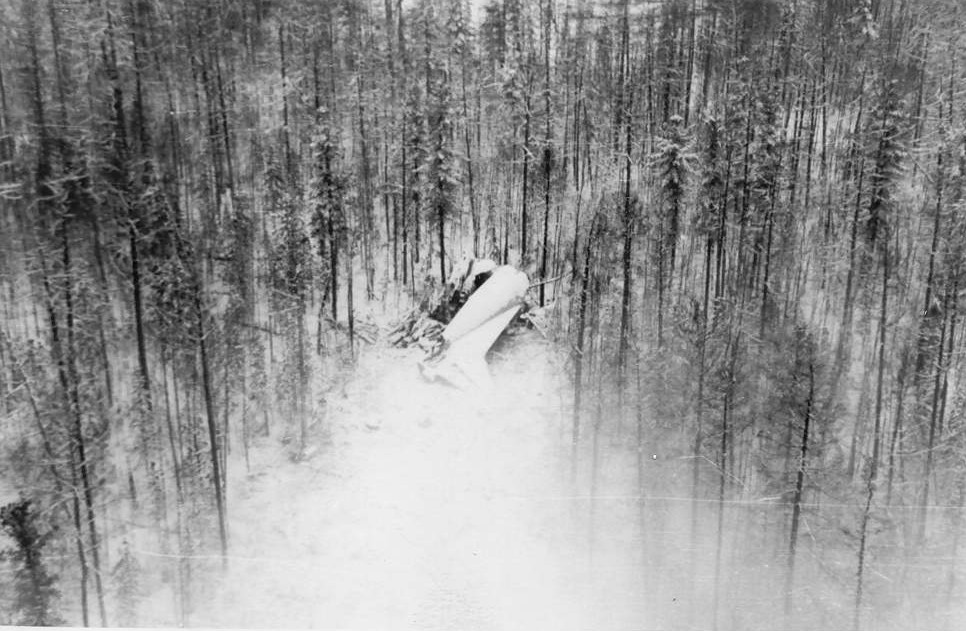 Plane crash near An-12B Lensk. 1968