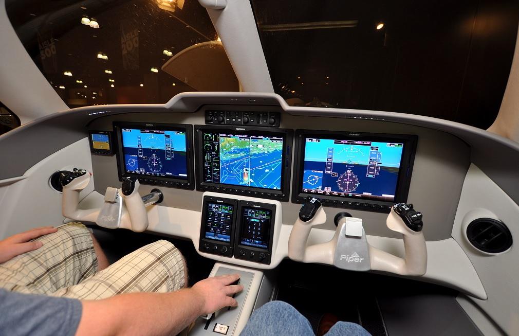 Piper PA-47 PiperJet cockpit