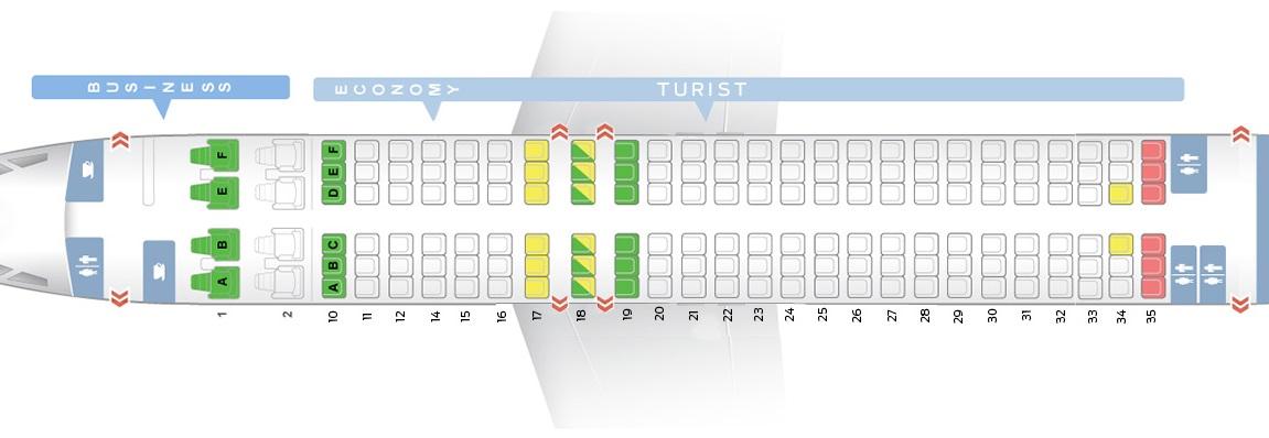 La maggior parte dello spazio cabina dell'aeromobile Boeing 737-800 - Transaero