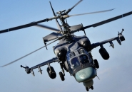 Ka-52 before landing on the runway