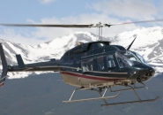 Helicopter Bell 206L4 after takeoff