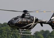 hélicoptère Eurocopter EC 135 P2i avant l'atterrissage
