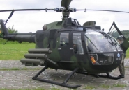 MBB Bo 105 helicopter after landing