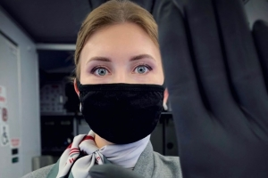 masked stewardess