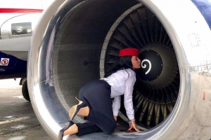 Why do flight attendants love an aircraft engine?