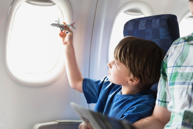Child on the plane