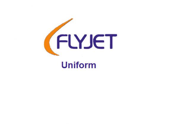 Uniforms of flight attendants: Flyjet. United Kingdom.