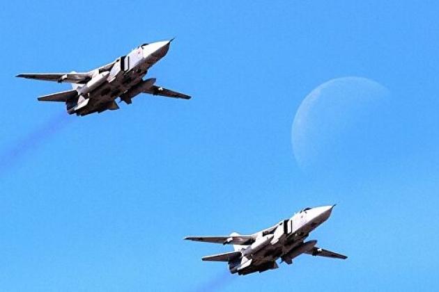 Бомбардировщики Су-24