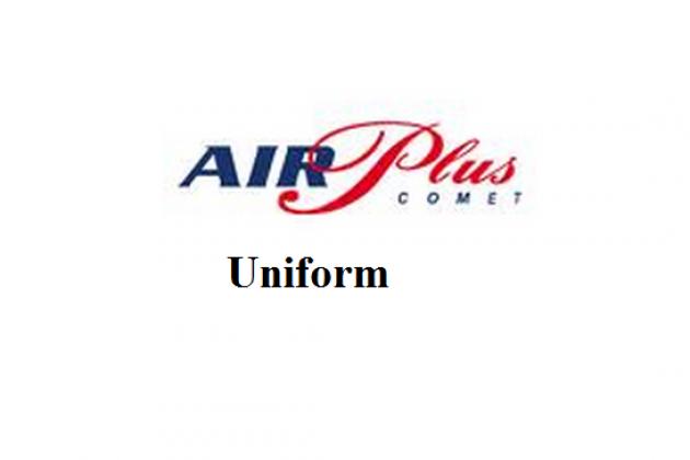 Uniforms stewardess: Air Plus Comet. Spain.