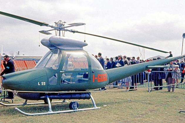 Elicottero Aer Lualdi L.59. Specifiche tecniche. Foto.