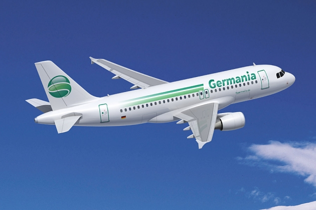 Uniformes hôtesse de l'air: Germania Airline. Allemagne.