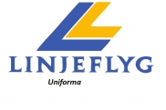 Uniforms of flight attendants: Linjeflyg. Sweden.