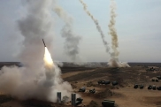 Air defense missile launches