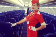 Aeroflot stewardess