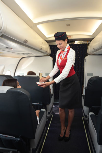 Uniforms stewardess: Ural Airlines (Ural Airlines). Russia.